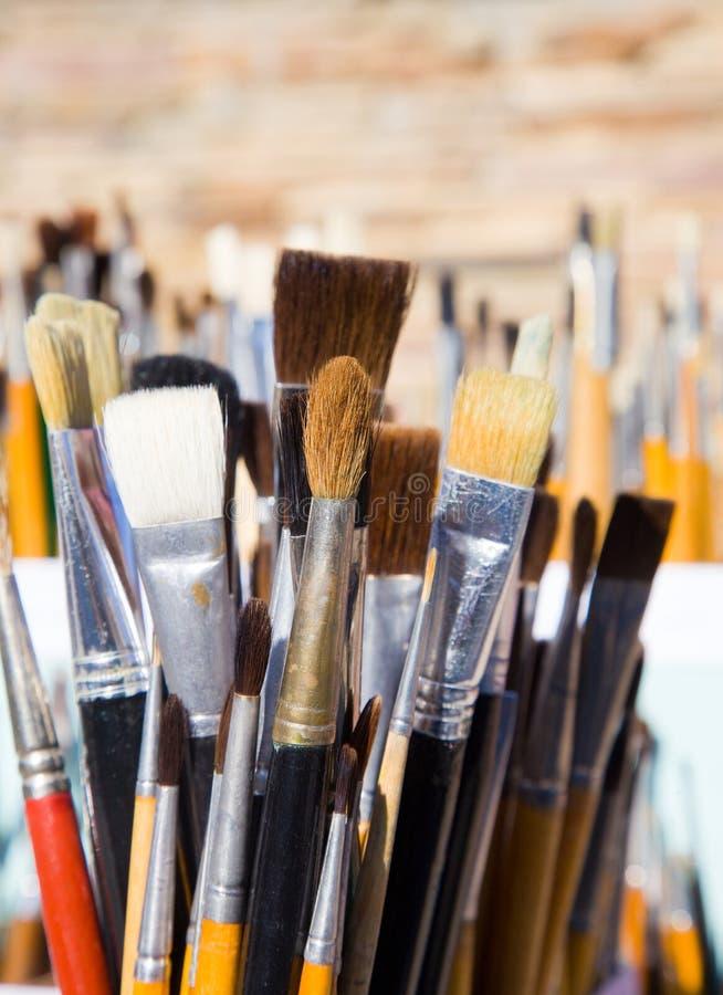 hjälpmedel för målare s arkivbilder
