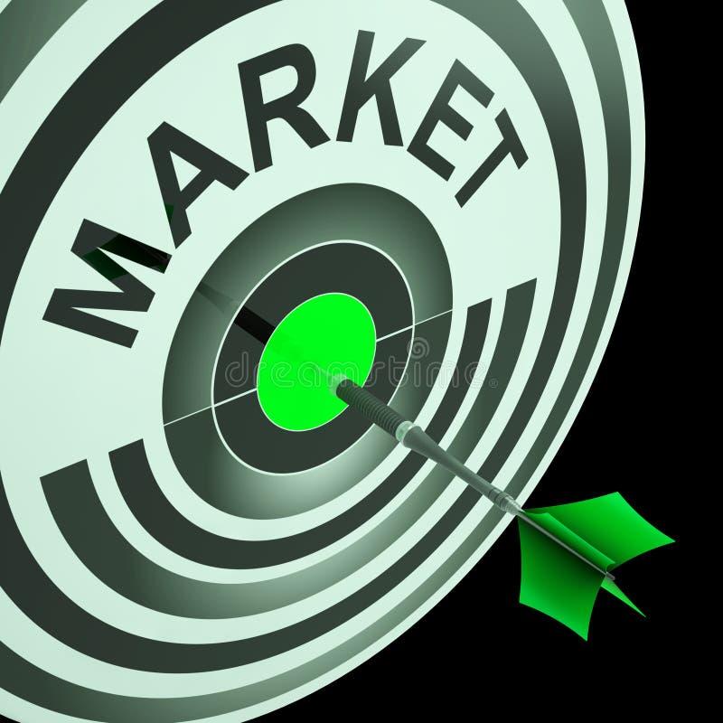 Hjälpmedel för målmarknad som siktar på affärsåhörare royaltyfri illustrationer