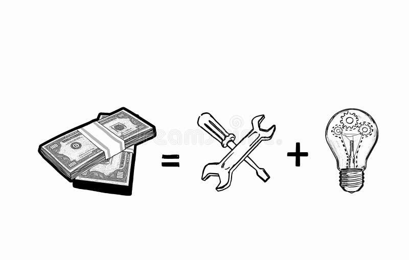 Hjälpmedel för pengardanande royaltyfri illustrationer