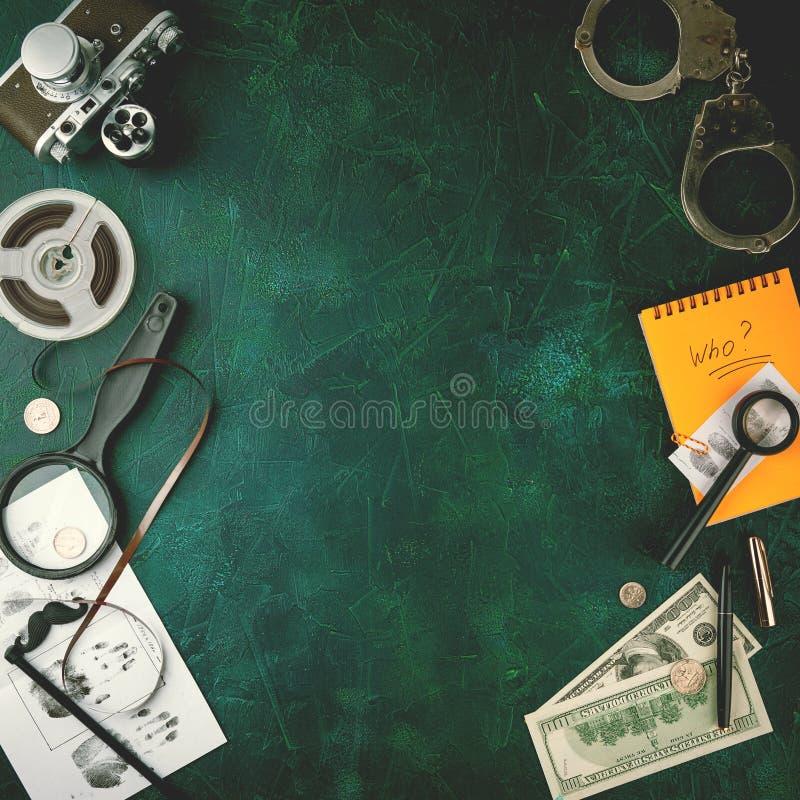 Hjälpmedel för privat kriminalare royaltyfri bild