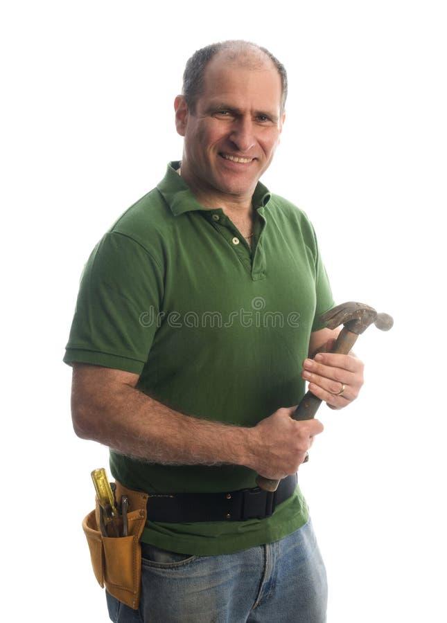 hjälpmedel för repairman för bälteleverantörhammare royaltyfri bild