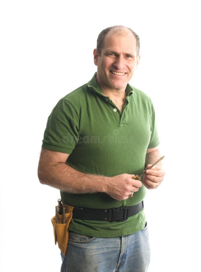 hjälpmedel för repairman för bälteleverantörhammare arkivfoto