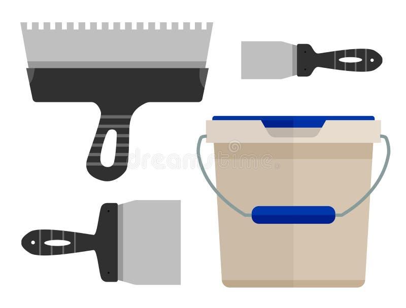 Hjälpmedel för underhåll stock illustrationer