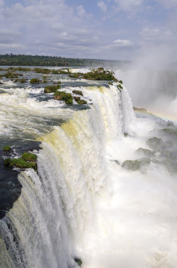 Hjälpmedel för vattenfallet Iguacuwalls royaltyfria foton