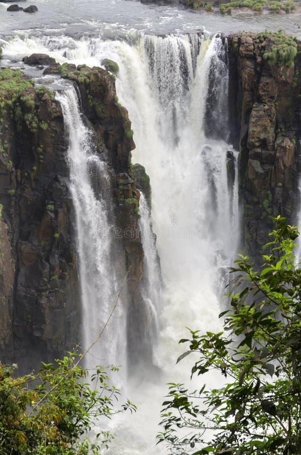 Hjälpmedel för vattenfallet Iguacuwalls arkivbild
