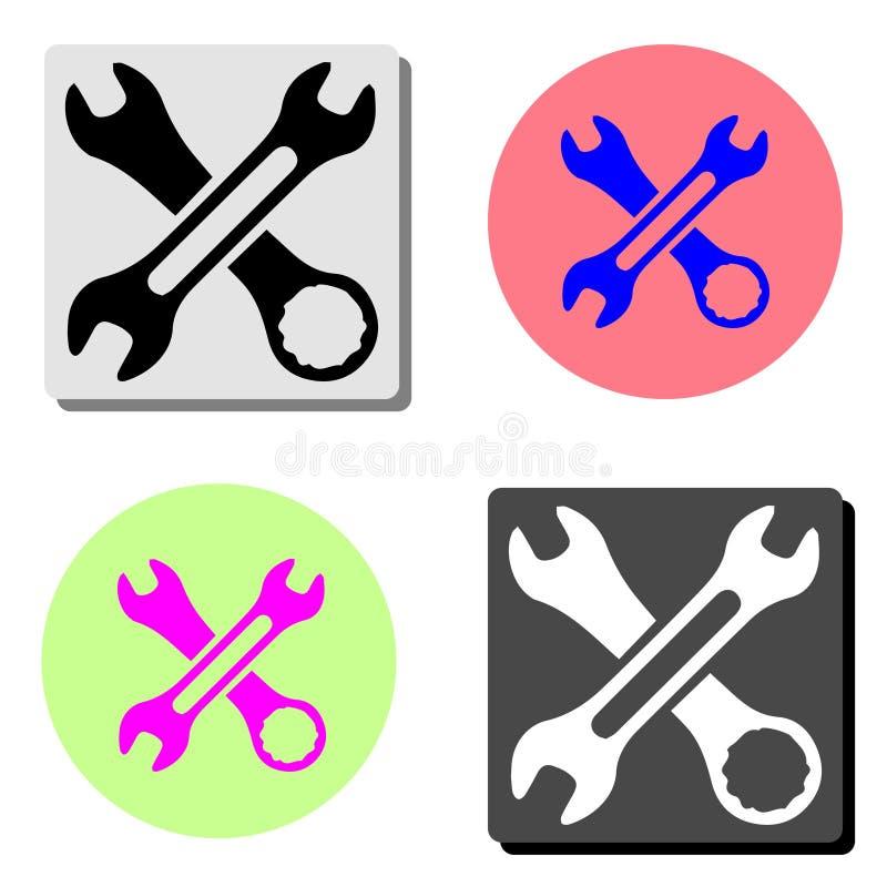 hjälpmedel Plan vektorsymbol royaltyfria foton