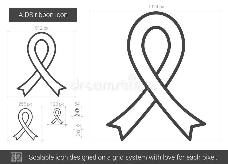 HJÄLPMEDELbandlinje symbol vektor illustrationer