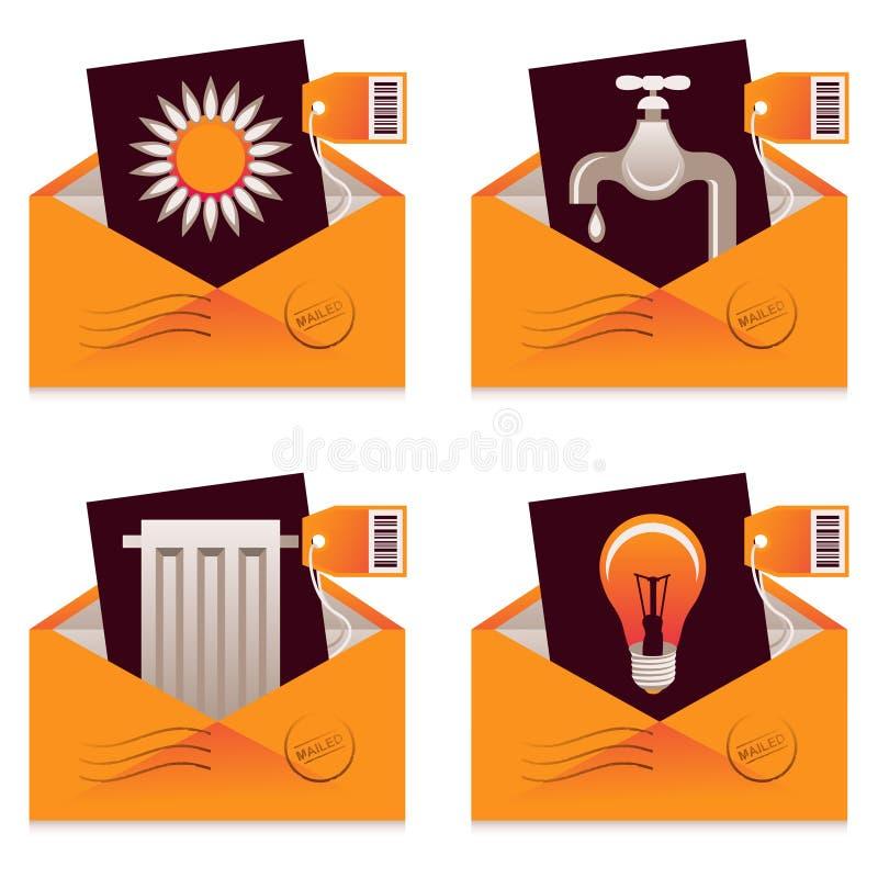 HjälpmedelBills royaltyfri illustrationer