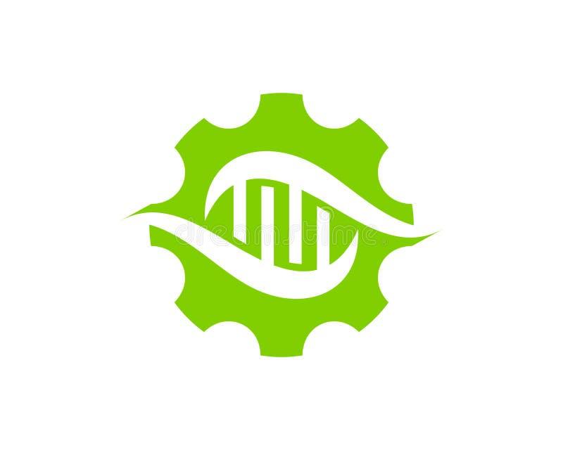HjälpmedelDna Logo Icon Design royaltyfri illustrationer