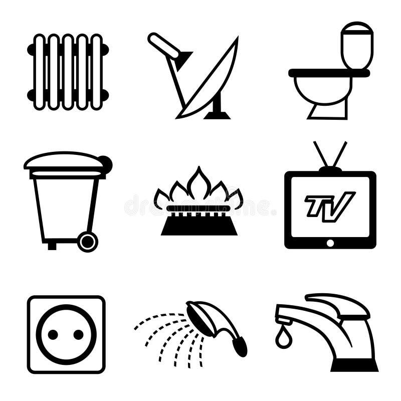 Hjälpmedelsymboler stock illustrationer