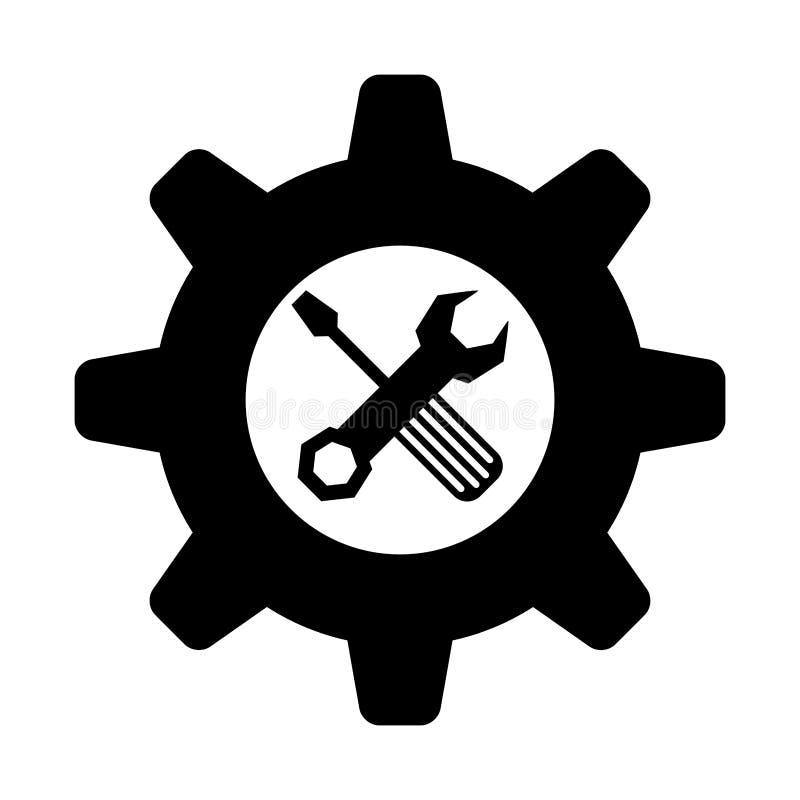Hjälpmedelsymbolsbild royaltyfri illustrationer