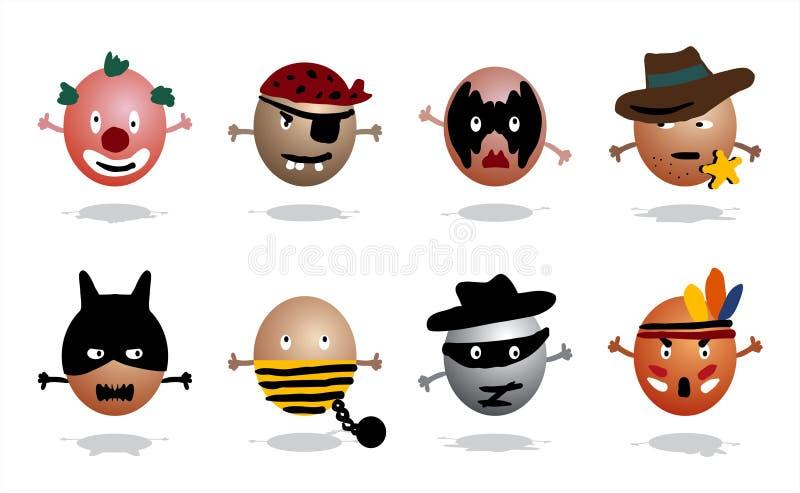 hjältesymboler vektor illustrationer