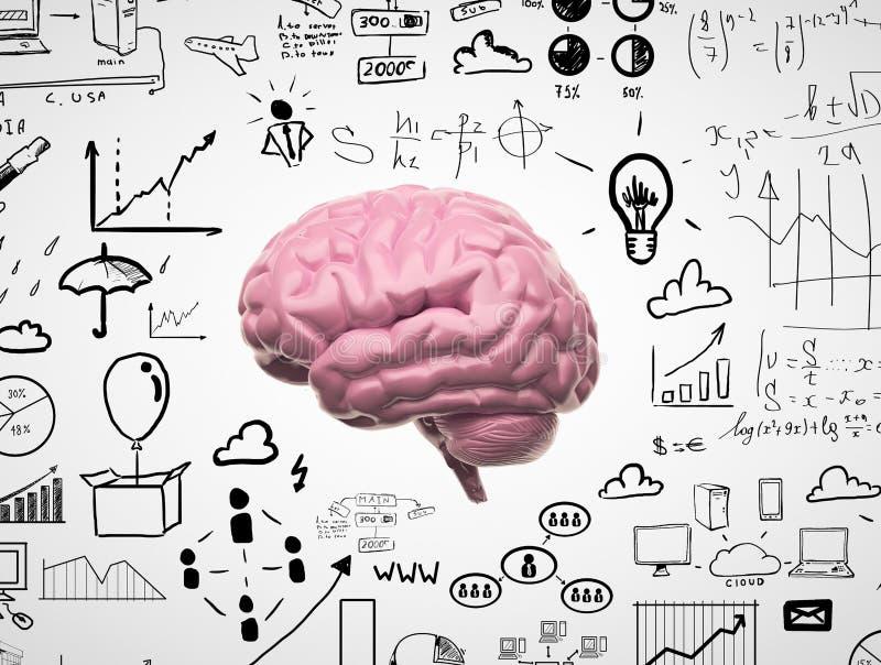 Hjärna 3d royaltyfri fotografi