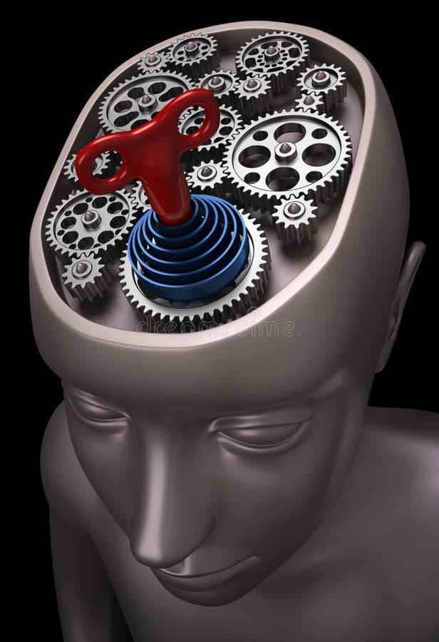 hjärna drivet rep royaltyfri illustrationer