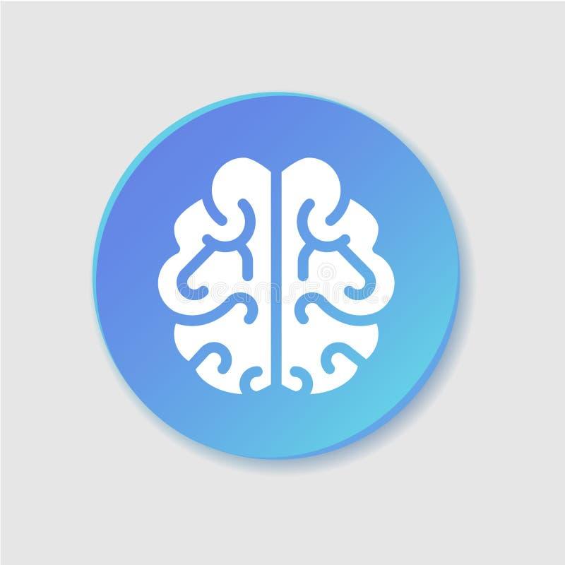 Hjärna mening, plan färgsymbol för intelligens vektor illustrationer