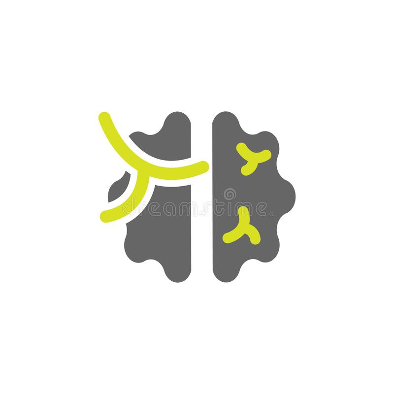 Hjärna meningssymbol Beståndsdel av vetenskapsexperimentsymbolen för mobila begrepps- och rengöringsdukapps Den specificerade hjä stock illustrationer