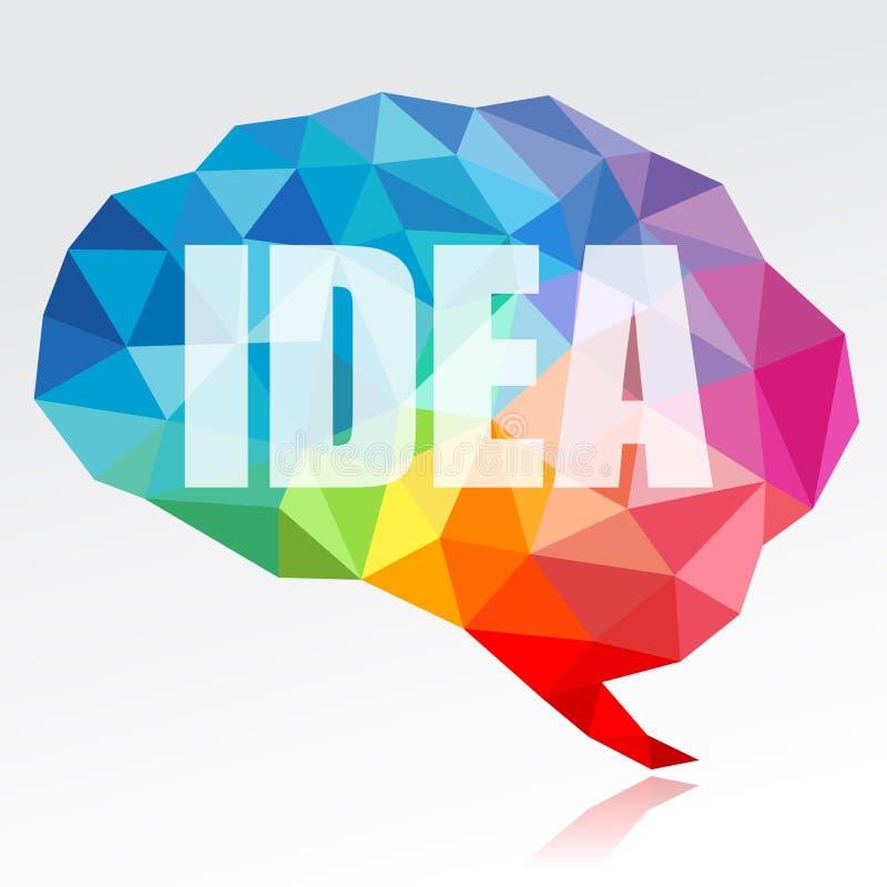 Hjärna och idé royaltyfri illustrationer