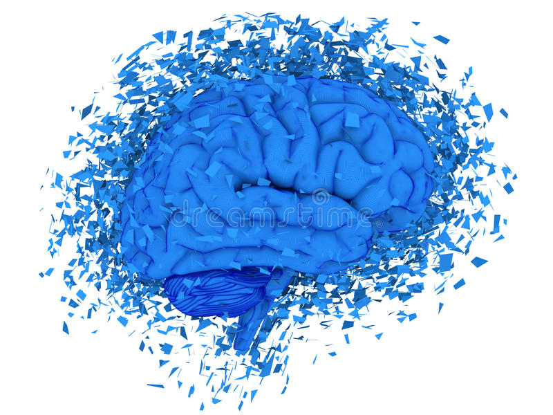 hjärna som exploderar stock illustrationer