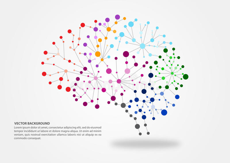 Hjärna som kartlägger begrepp royaltyfri illustrationer