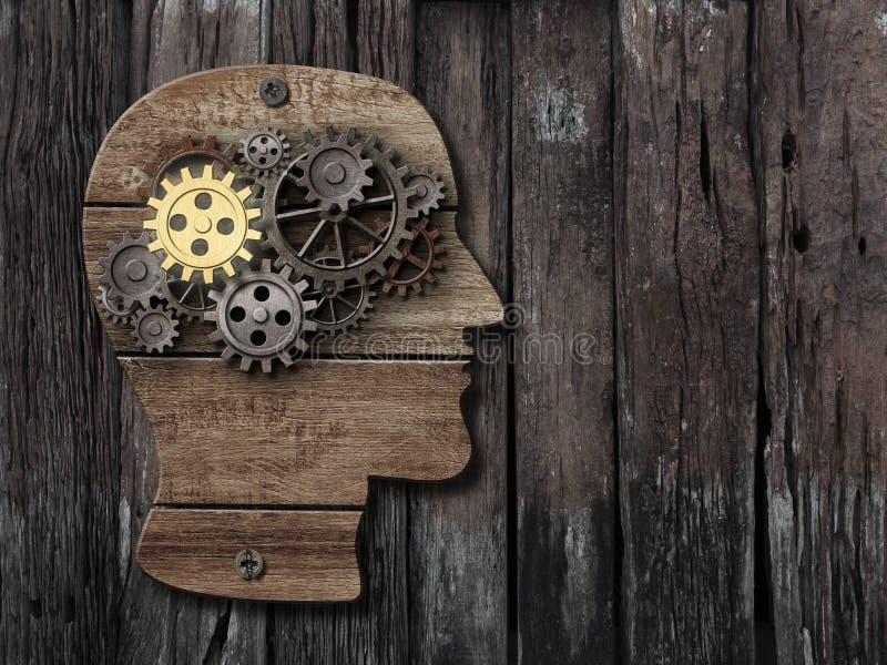 Hjärnaktivitet, psykologi, minnesbegrepp royaltyfria foton