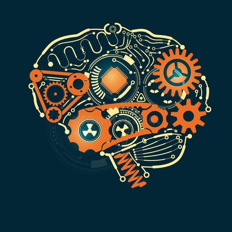 Hjärnan royaltyfri illustrationer