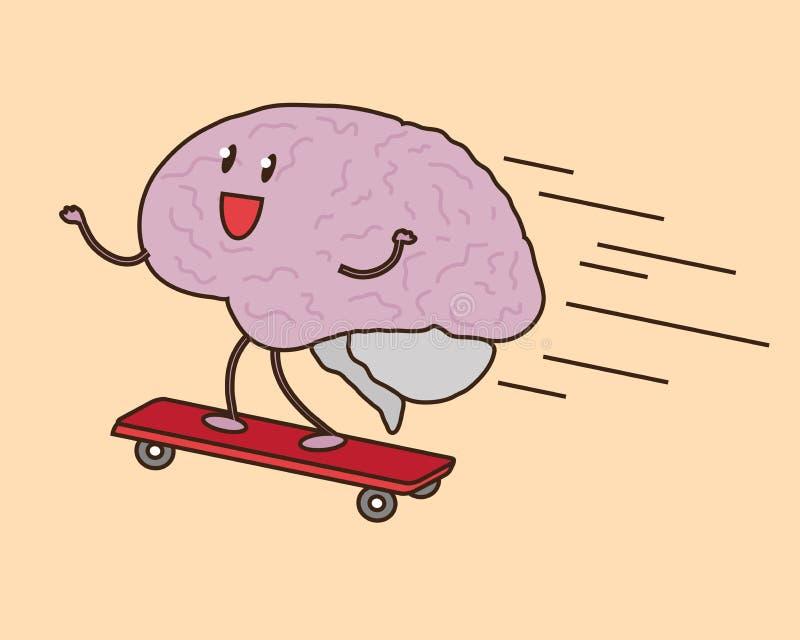 Hjärnan förstår ögonblickligen Snabb framgång royaltyfri illustrationer