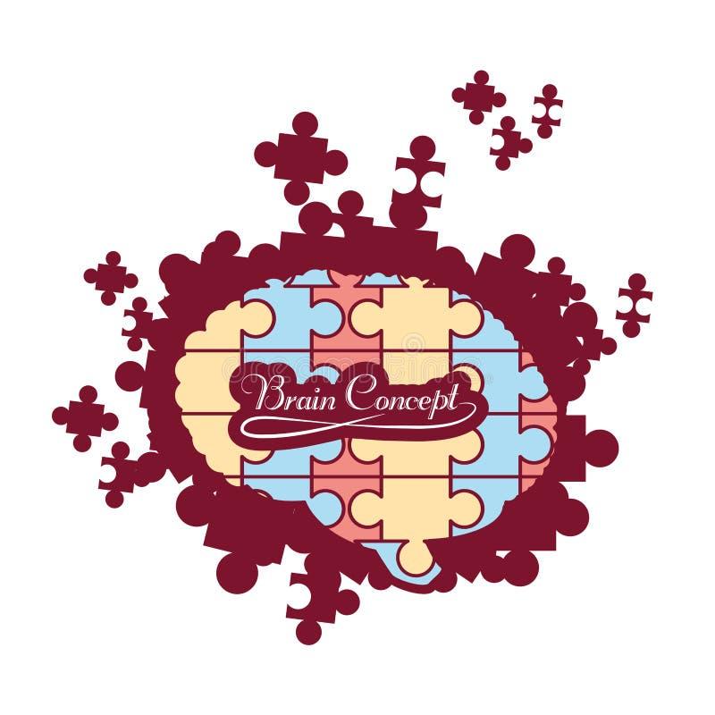 Hjärnbegreppsdesign stock illustrationer