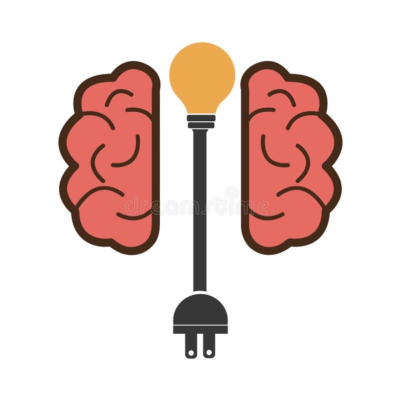 Hjärndesign stock illustrationer