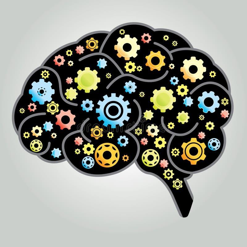 Hjärnkugghjul royaltyfri illustrationer