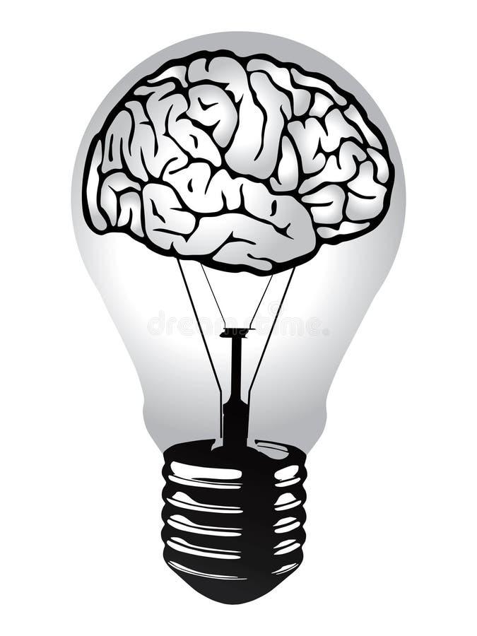 hjärnkulalampa royaltyfri illustrationer