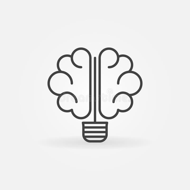 Hjärnkulasymbol stock illustrationer