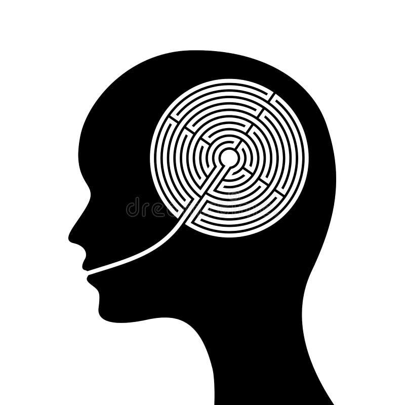 hjärnlabyrint royaltyfri illustrationer