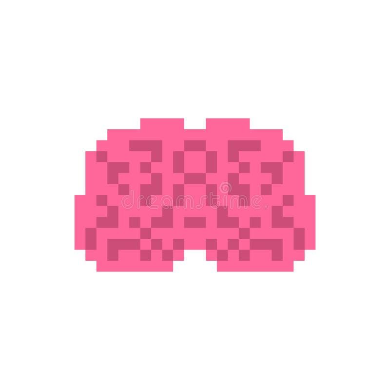 HjärnPIXELkonst Mänsklig bit för inre organ 8 Pixelate anatomi 1 royaltyfri illustrationer