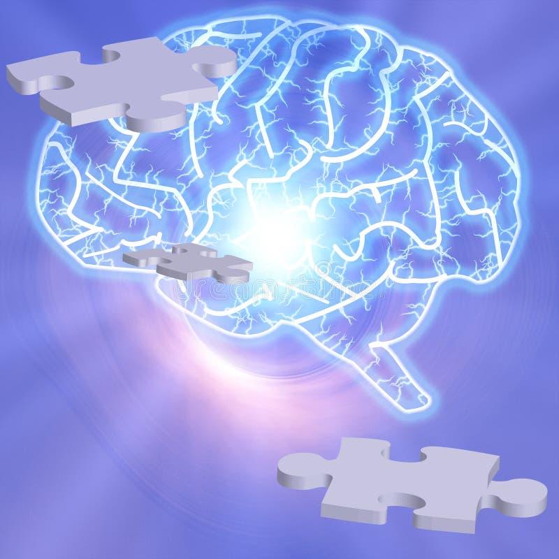 hjärnpussel stock illustrationer
