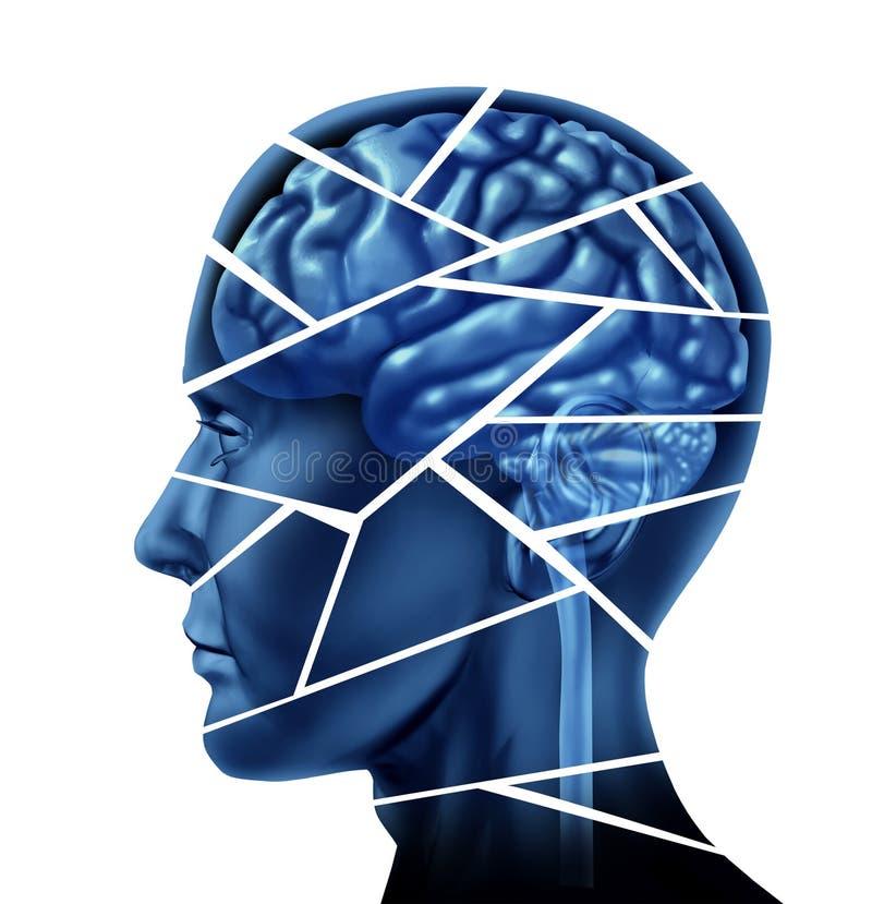 hjärnskada stock illustrationer