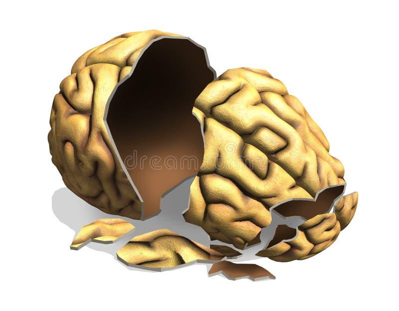 Hjärnskada vektor illustrationer