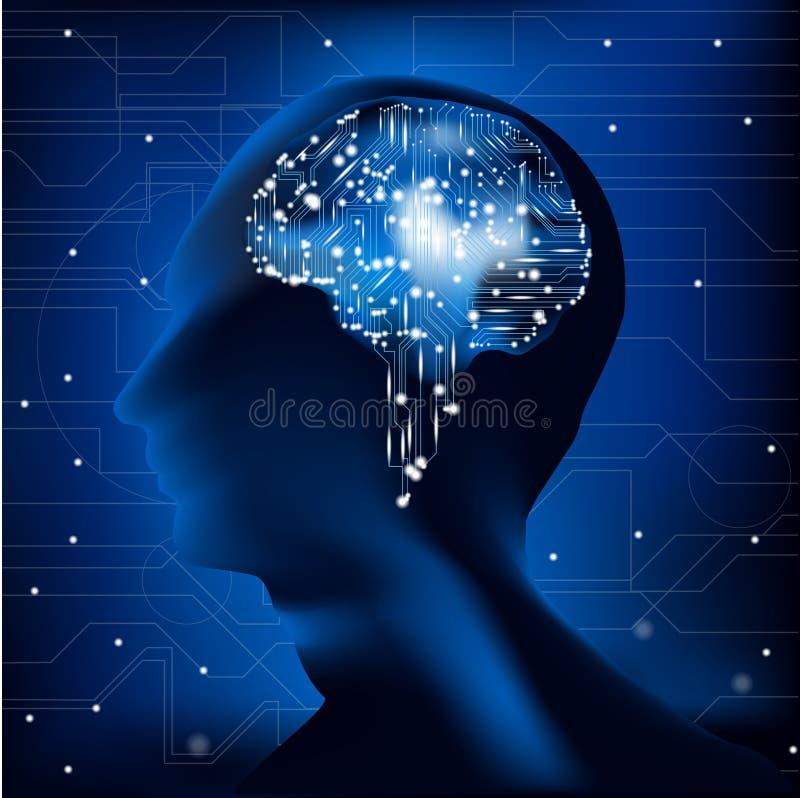 Hjärnströmkrets stock illustrationer