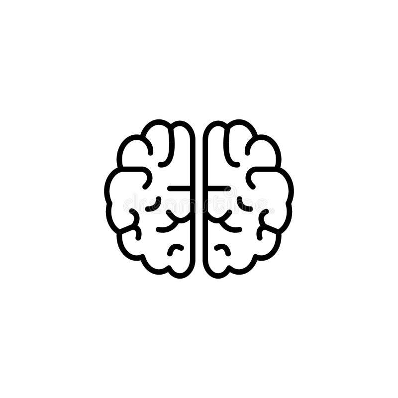 Hjärnsymbolen, den idérika mallen för meningslogodesignen kan vara bruk för logoen, baner, webpages royaltyfri illustrationer