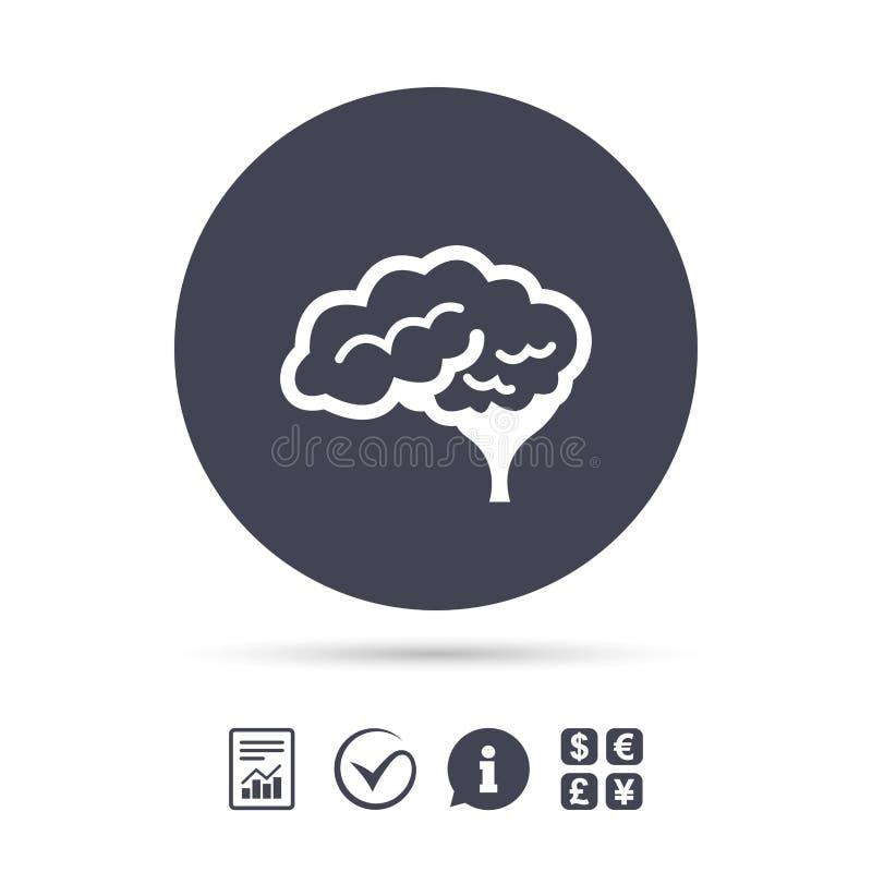 Hjärnteckensymbol Intelligent ila meningen vektor illustrationer