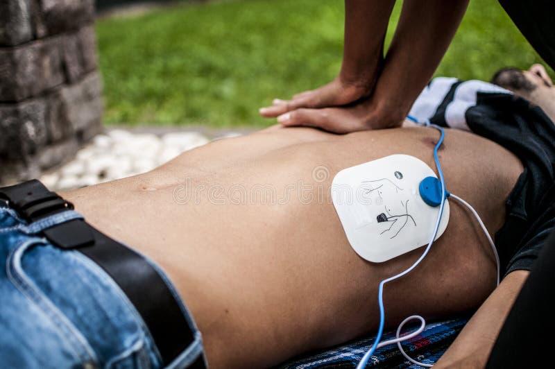 Hjärt- massage royaltyfri foto