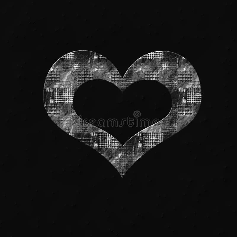 Hjärtaöversiktsform royaltyfria bilder