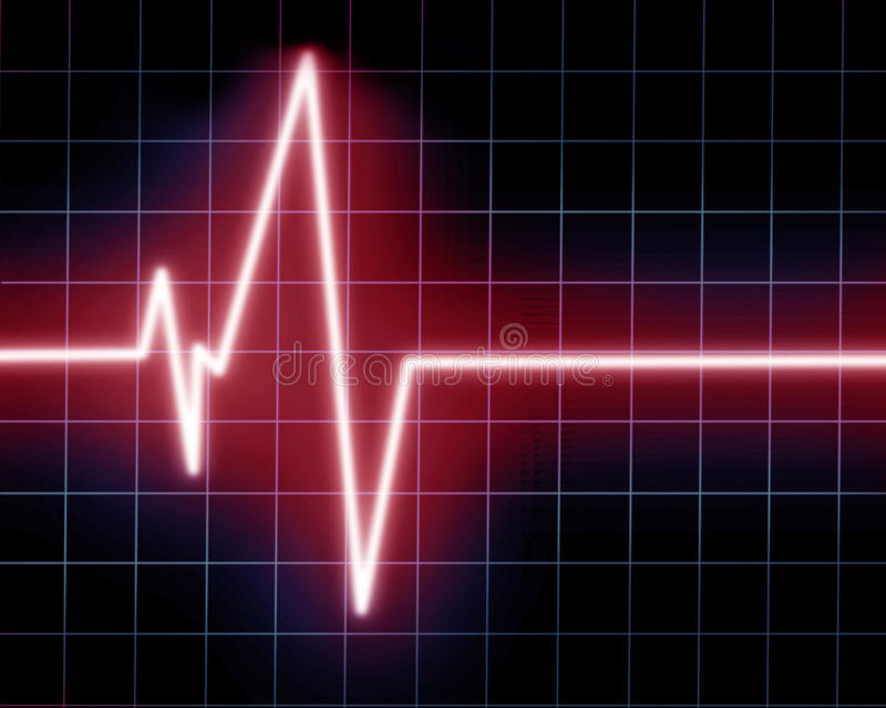 Hjärta övervakar royaltyfri illustrationer