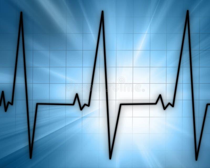 Hjärta övervakar stock illustrationer