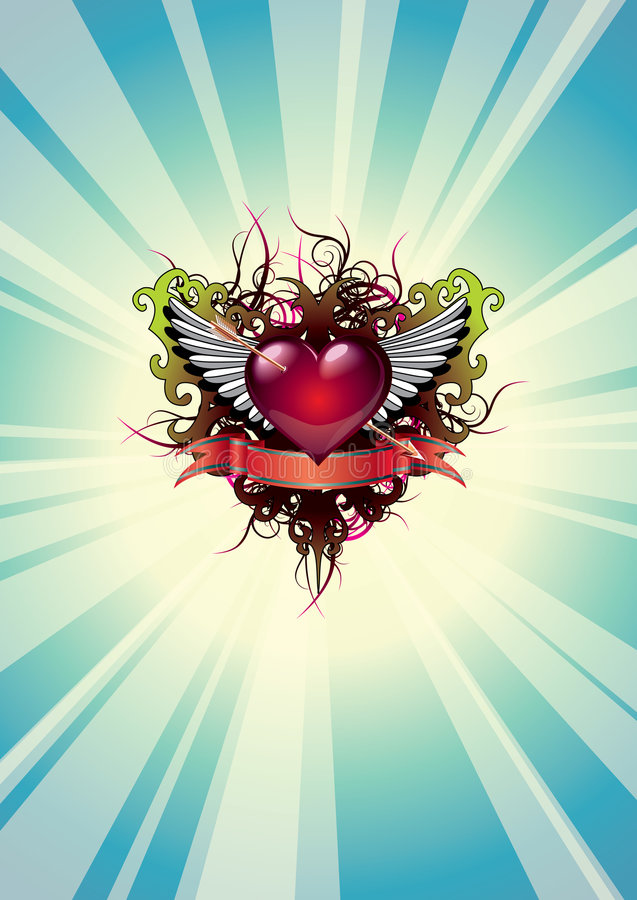 hjärta 11 vektor illustrationer