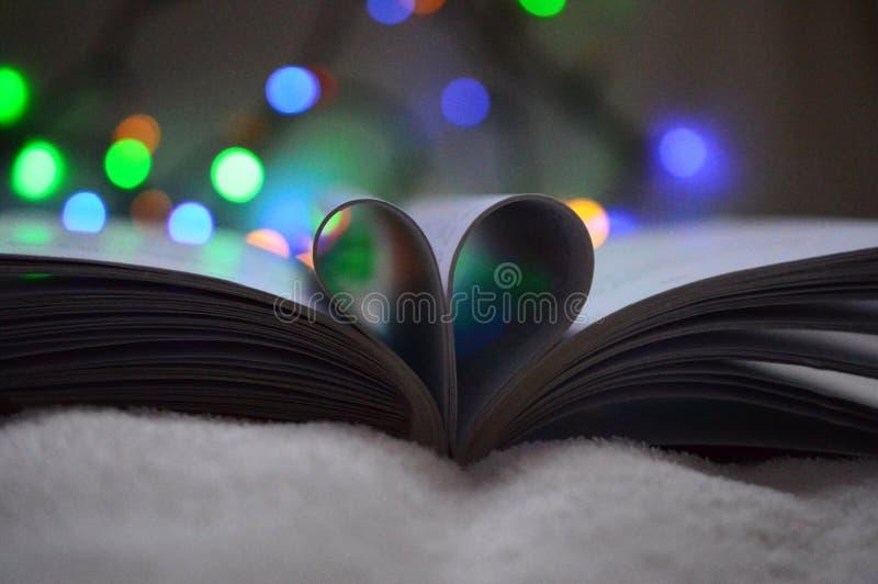 Hjärta av boken arkivfoton