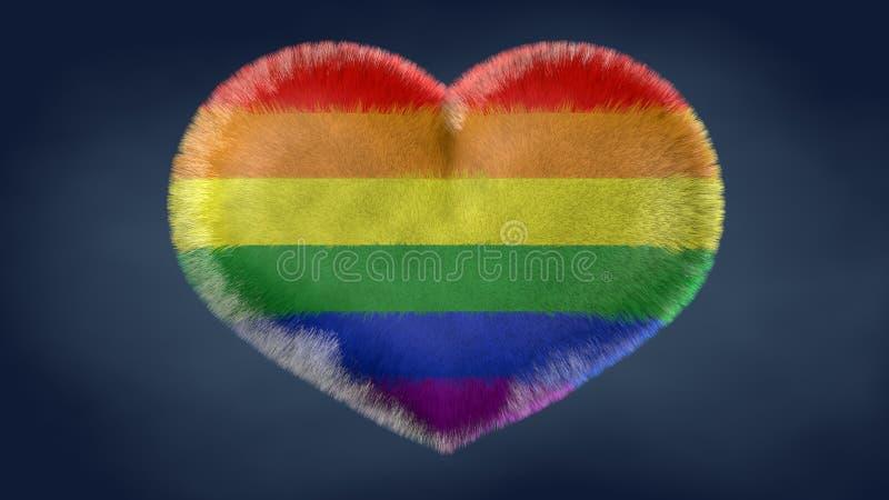 Hjärta av flaggan av fred stock illustrationer