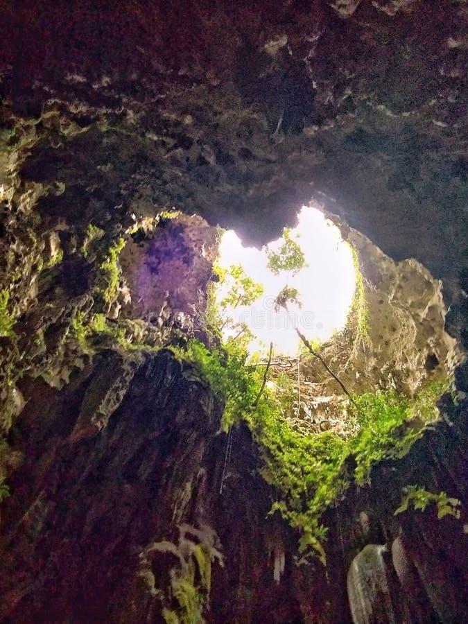 Hjärta av grottan royaltyfria bilder