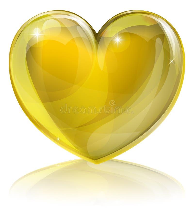 Hjärta av guld vektor illustrationer