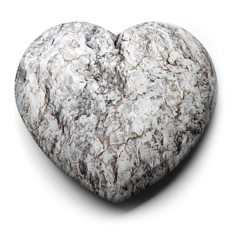 Hjärta av stenen stock illustrationer