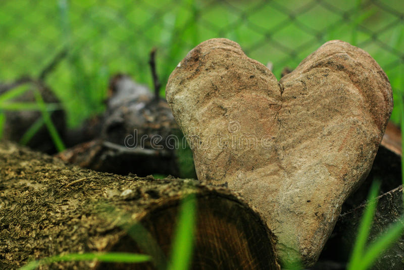 Hjärta av stenen royaltyfri foto